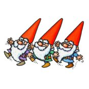THREE DANCING GNOMES